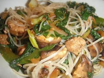 Easy Chicken AsianNoodle w/Spicy Thai Peanut Sauce
