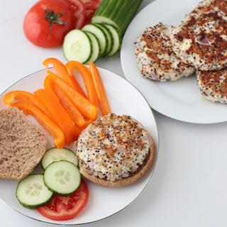 Greek Turkey Quinoa Burgers