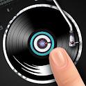 Disco de vinilo dedo DJ icon