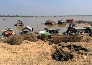 Photo: The road ends at the lake, where fishermen eke out a living in floating houses. Further out in the lake are entire villages of such houses, which one can visit by boat. However, at this point we were in tourist-avoidance mode, so we skipped that tour.