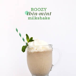 Boozy Thin Mint Milkshake.