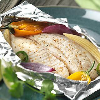 Foil Pouch Fish Fillets.
