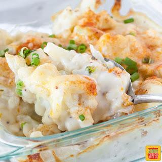 Cauliflower Cheese Casserole.