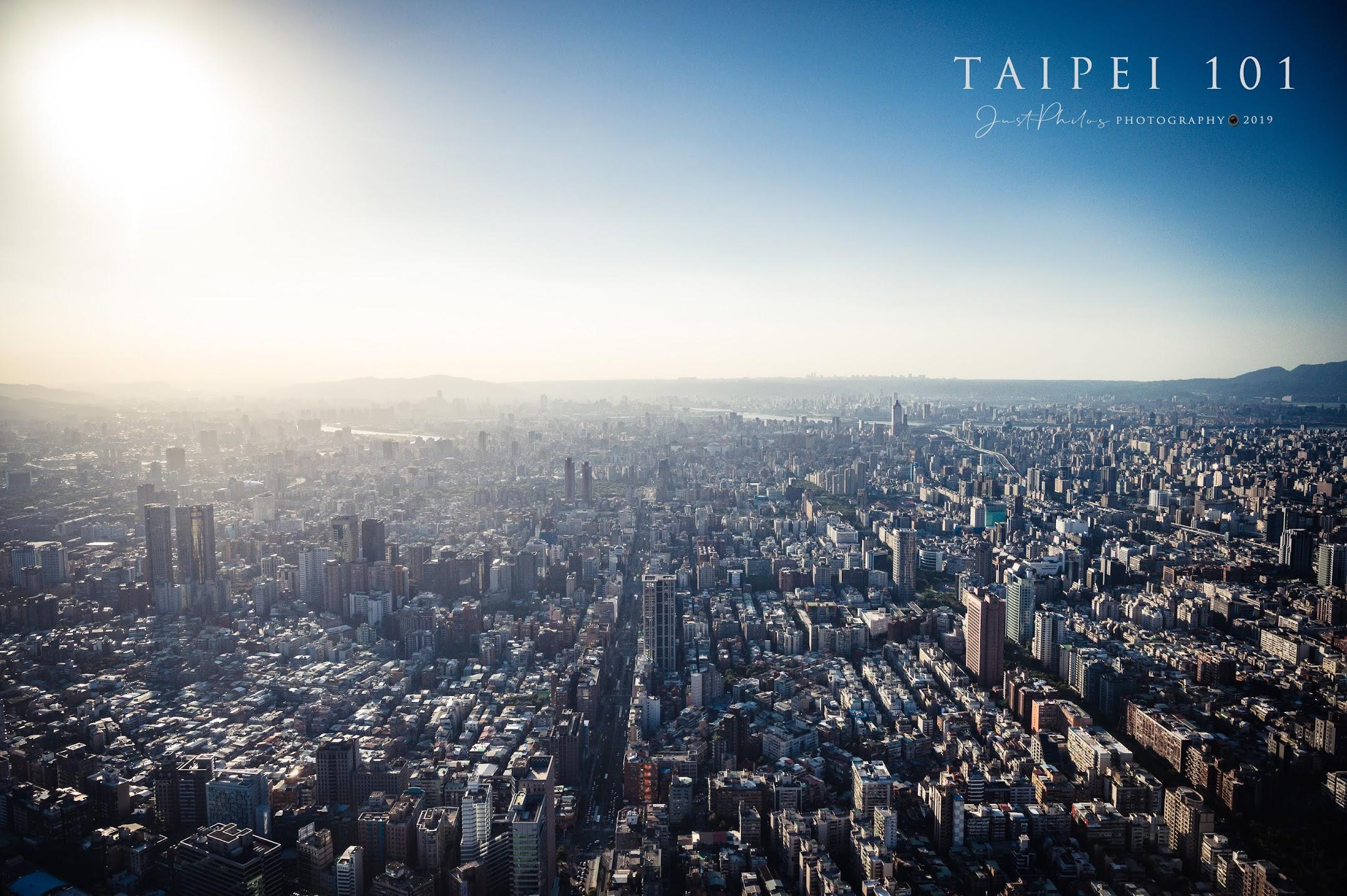 從台北101觀景台可以一覽大台北的城市景色。