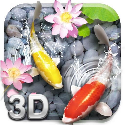 Lively Koi Fish 3D Theme