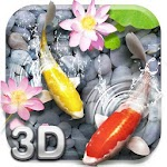 Lively Koi Fish 3D Theme Icon