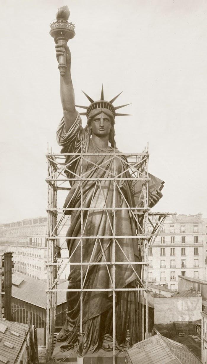 Albert Fernique, Le montage de la Statue de la Liberté, 1882/1884