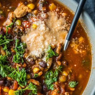 Crockpot Turkey and Vegetable Soup.