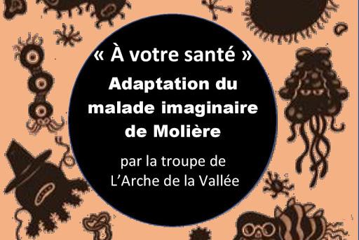 Affiche représentation théâtre L'Arche de La Vallée