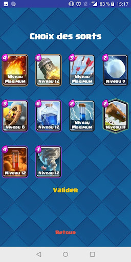Spell Comparator Clash Royale  astuce 2