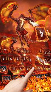 Lava Fire Dragon Keyboard