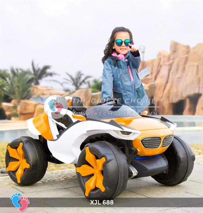 Xe ô tô điện địa hình cho bé XJL-688 5