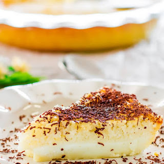 Impossible Coconut Pie.