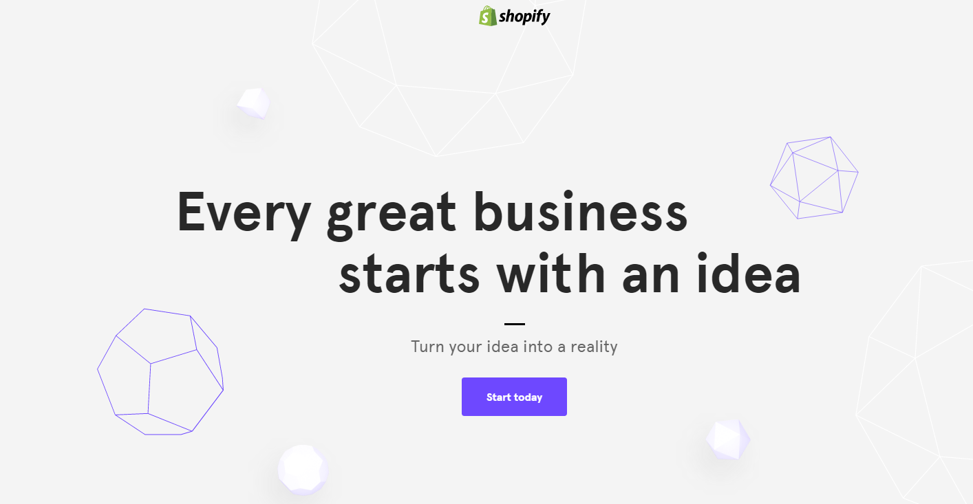 Great landing pages Shopify