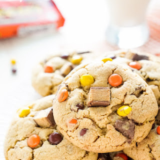 Overloaded Reese's Peanut Butter Pudding Cookies.