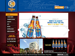 Photo: Tiger Beer, www.tigerbeer.co.nz Implemented by: Federation Media