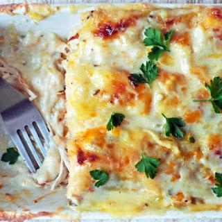 Skinny White Chicken Enchiladas.