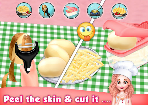 Code Triche Crispy French Fries Recipe - Top Chef Cooking Game apk mod screenshots 3