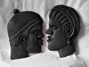 Photo: Guineanos.  Para leer algo más en relación con esta obra ir al blog: https://tallaenmadera-woodcarving-esculturas.blogspot.com/2018/04/cabezasdeafricanos.html