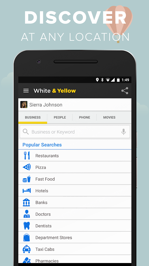 White & Yellow Pages- screenshot