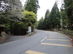 鳥居道山キャンプ場で右へ