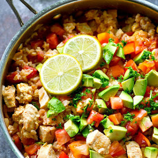 One-Pot Spicy Mexican Chicken and Rice.