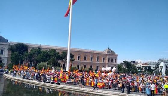 Manifestantes en Colón.