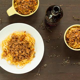 Sweet Potato Spaghetti Bolognese