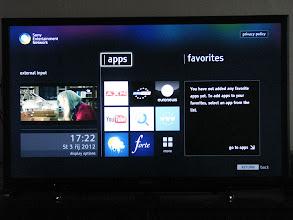 Photo: Nabidka integralnich aplikaci televizoru.