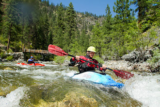 Photo: Kayaking tributary of the Main Salmon River in central Idaho.