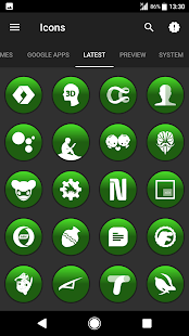 Big Bang Green Icons By Arjun Arora - náhled