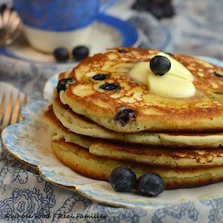 Whole Wheat Ricotta Pancakes with Blueberries and Lemon Zest