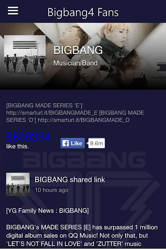 Big Bang for fans