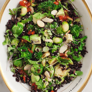 Brussels Sprout & Avocado Salad.