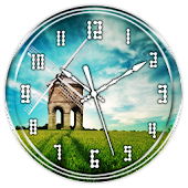Windmill Clock Live Wallpaper
