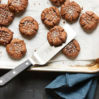 Dark Chocolate and Tahini Cookies.