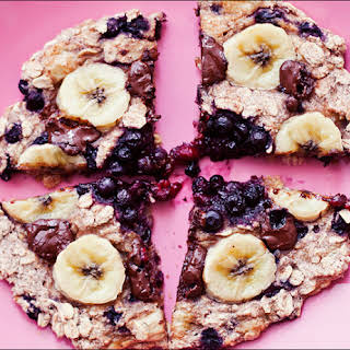 Blueberry Banana Chocolate Oat Cake Cookie.