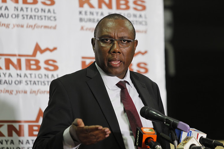 Kenya National Bureau of Statistics Director General Zachary Mwangi during a press conference on the upcoming census, July 8, 2019.