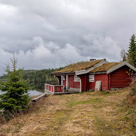 Red cabin  by Svein Hurum - Buildings & Architecture Other Exteriors ( forest norway )