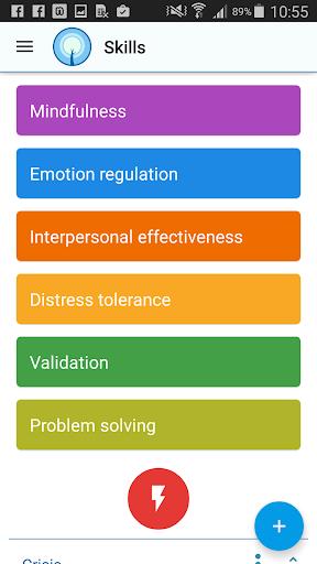 DBT Selfhelp & Diary Card app for Android screenshot