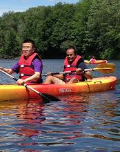 Photo: Penghao kayaking with Dr. Elango Kumarasamy (Campos Group)