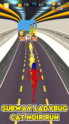 Subway Lady Bug Run 2.0 screenshots 1