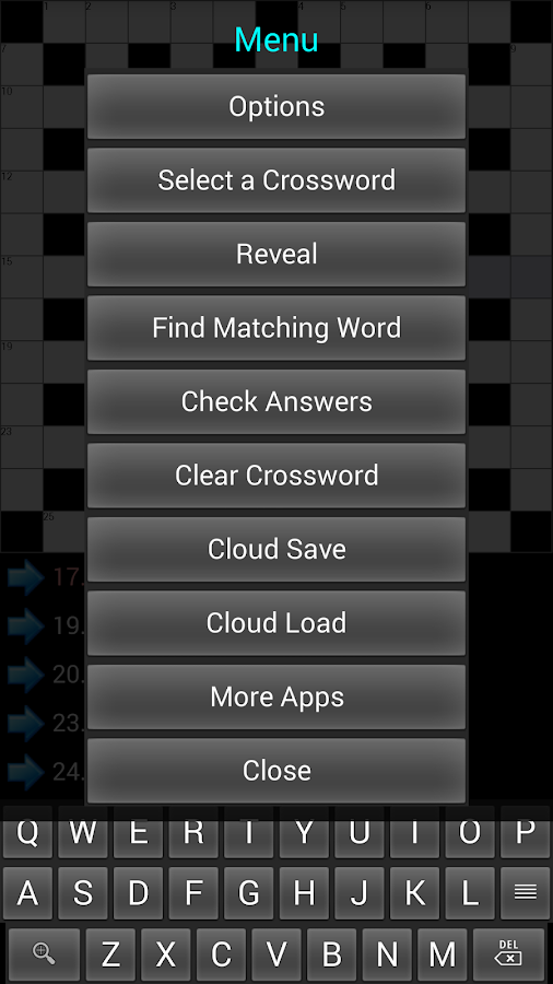 Crosswords II- screenshot