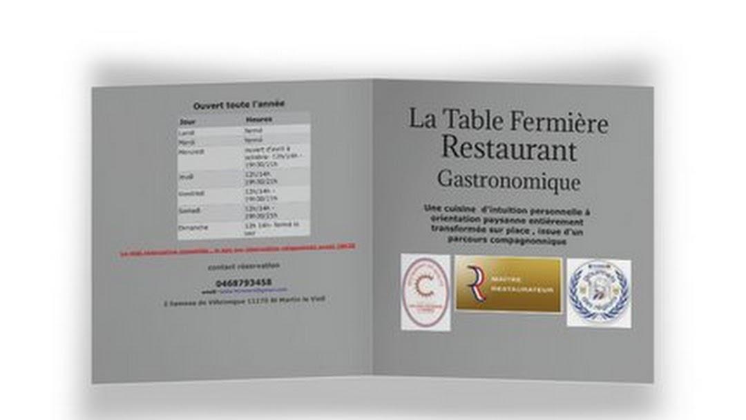 La Table Fermiere Restaurant A Saint Martin Le Vieil