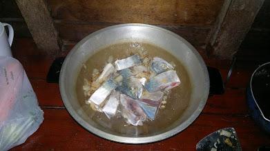 Photo: Fresh fish bought from fisherman husband of landlady.