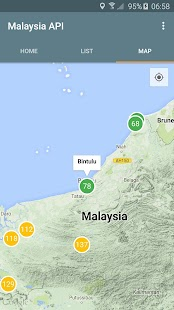 Malaysia Air Pollutant Index- screenshot thumbnail