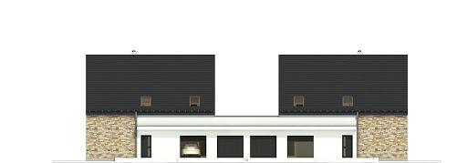 Bernikla III z garażem 2-st. bliźniak A-BL1 - Elewacja tylna