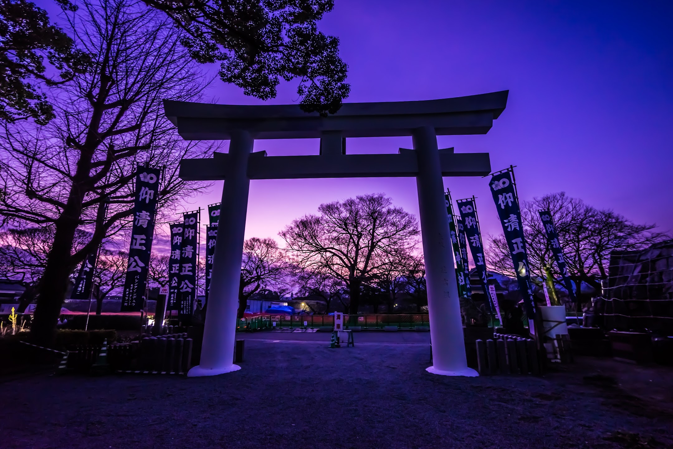 Kumamoto Castle Kato Shrine Torii gate1