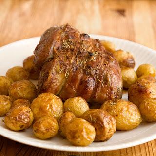 Roast Leg of Lamb with Garlic and Rosemary #SundaySupper