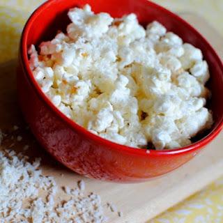 Coconut Dessert Popcorn For One.